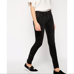 Blank NYC studded black skinny jeans